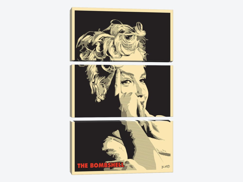 The Bombshell: Marilyn Monroe by Joshua Budich 3-piece Canvas Art Print