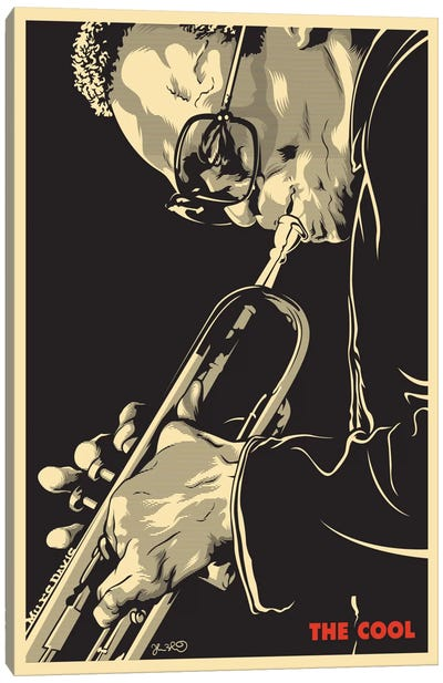 The Cool: Miles Davis Canvas Art Print
