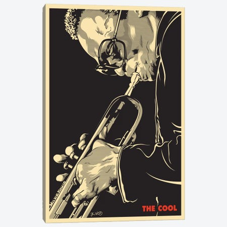 The Cool: Miles Davis Canvas Print #JBD48} by Joshua Budich Canvas Print