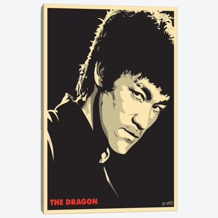 The Dragon: Bruce Lee Canvas Print #JBD49} by Joshua Budich Canvas Print