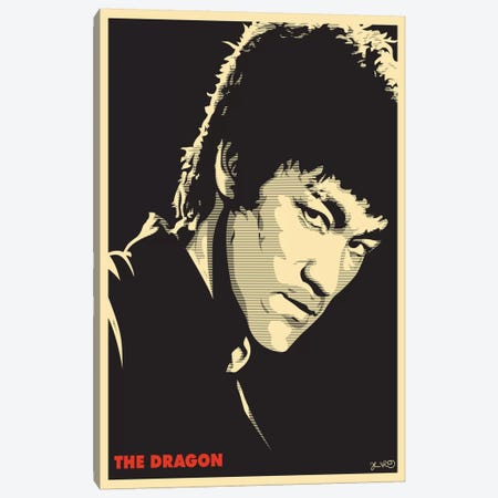The Dragon: Bruce Lee Canvas Print #JBD49} by Joshua Budich Canvas Print