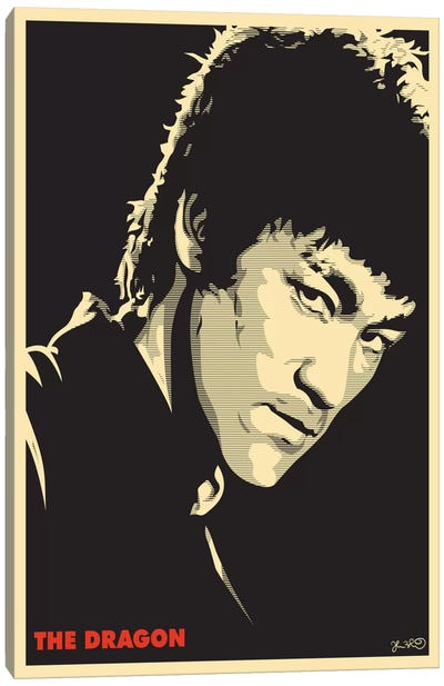The Dragon: Bruce Lee Canvas Print #JBD49