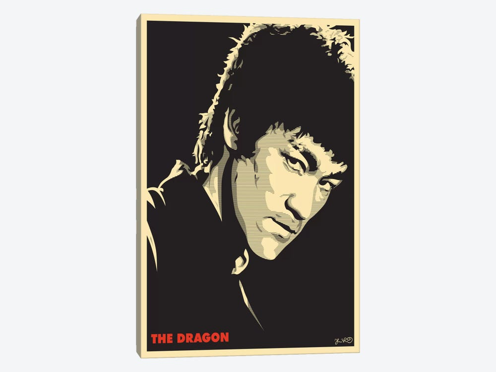 The Dragon: Bruce Lee by Joshua Budich 1-piece Canvas Print