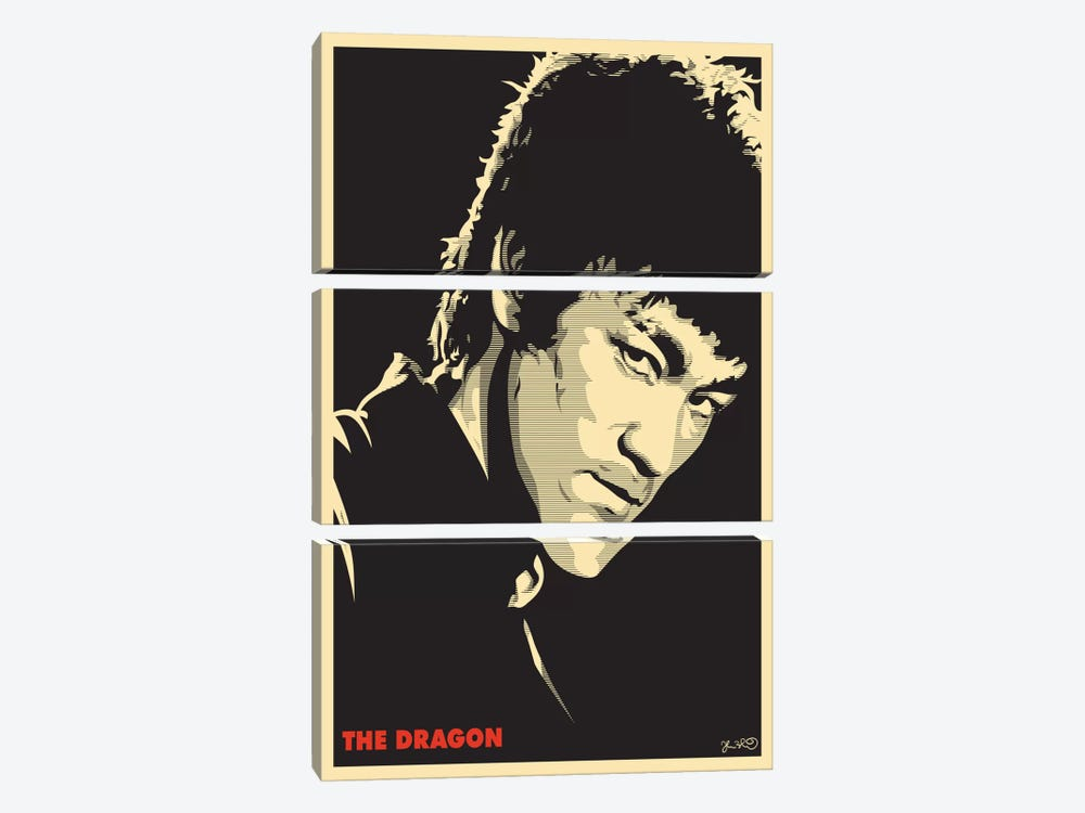 The Dragon: Bruce Lee by Joshua Budich 3-piece Canvas Art Print