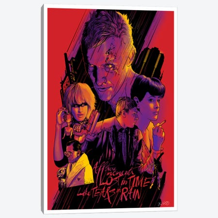 Blade Runner Canvas Print #JBD4} by Joshua Budich Canvas Art