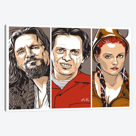 The Dude, Donny & Maude Canvas Print #JBD50} by Joshua Budich Canvas Art
