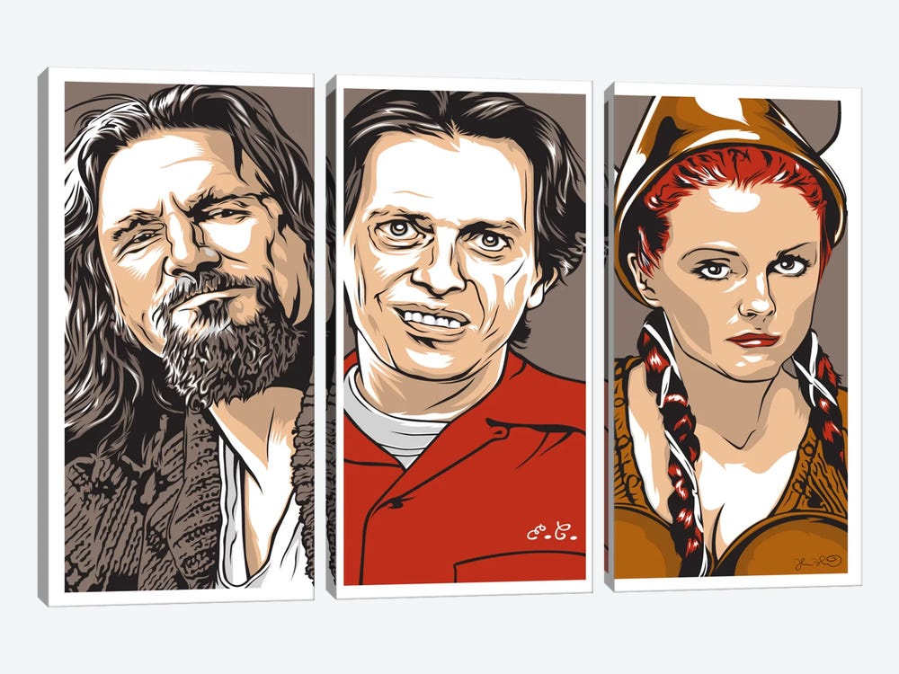 The Dude, Donny & Maude by Joshua Budich 3-piece Art Print