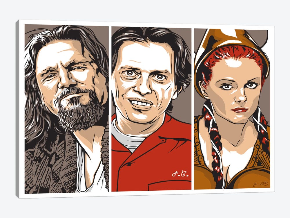 The Dude, Donny & Maude by Joshua Budich 1-piece Canvas Print