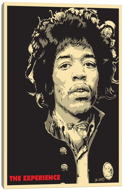 The Experience: Jimi Hendrix Canvas Art Print