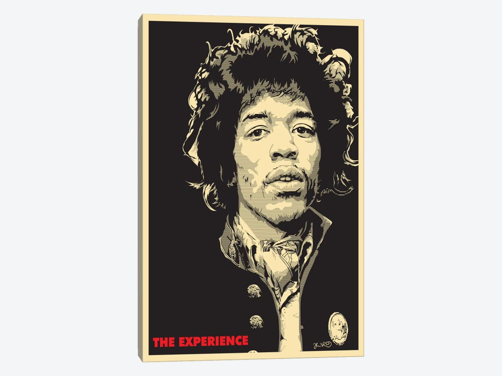 The Experience: Jimi Hendrix Canvas Wall Art by Joshua Budich | iCanvas