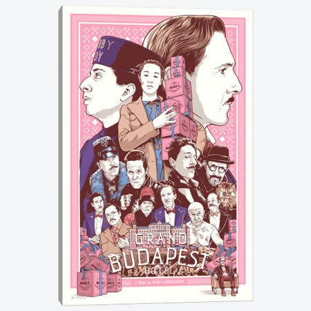 The Grand Budapest Hotel Canvas Print #JBD52} by Joshua Budich Canvas Wall Art