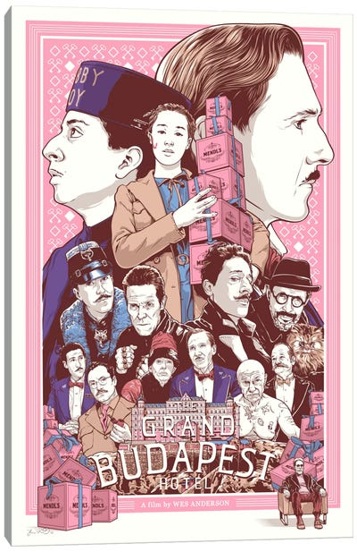 The Grand Budapest Hotel Canvas Print #JBD52