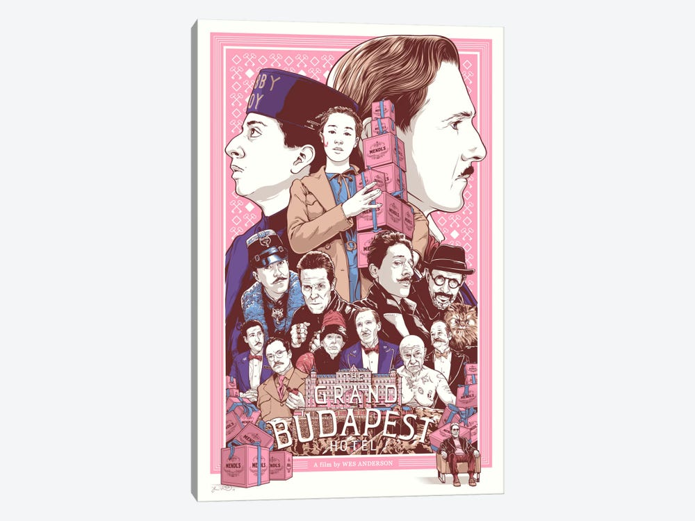 The Grand Budapest Hotel by Joshua Budich 1-piece Art Print