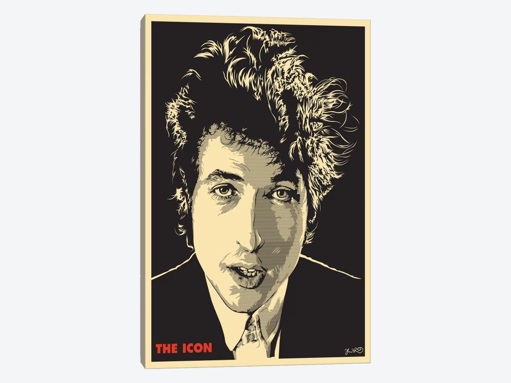 The Icon: Bob Dylan by Joshua Budich 1-piece Canvas Artwork