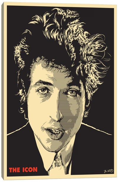 The Icon: Bob Dylan Canvas Art Print