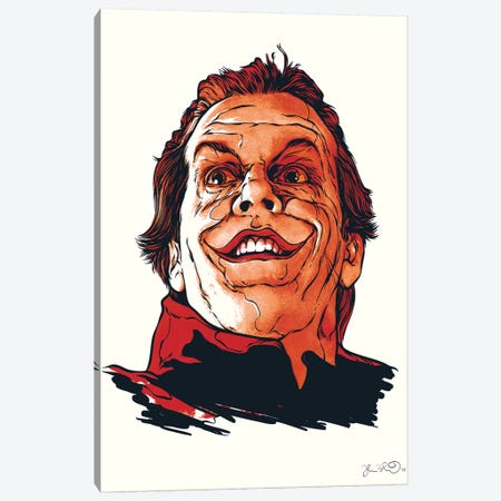 The Joker Canvas Print #JBD54} by Joshua Budich Canvas Print