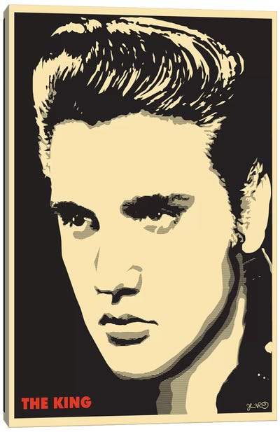 The King: Elvis Presley Canvas Art Print