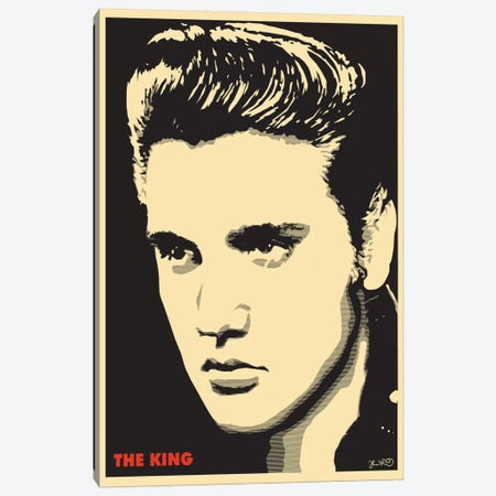 The King: Elvis Presley Canvas Print #JBD55} by Joshua Budich Canvas Print