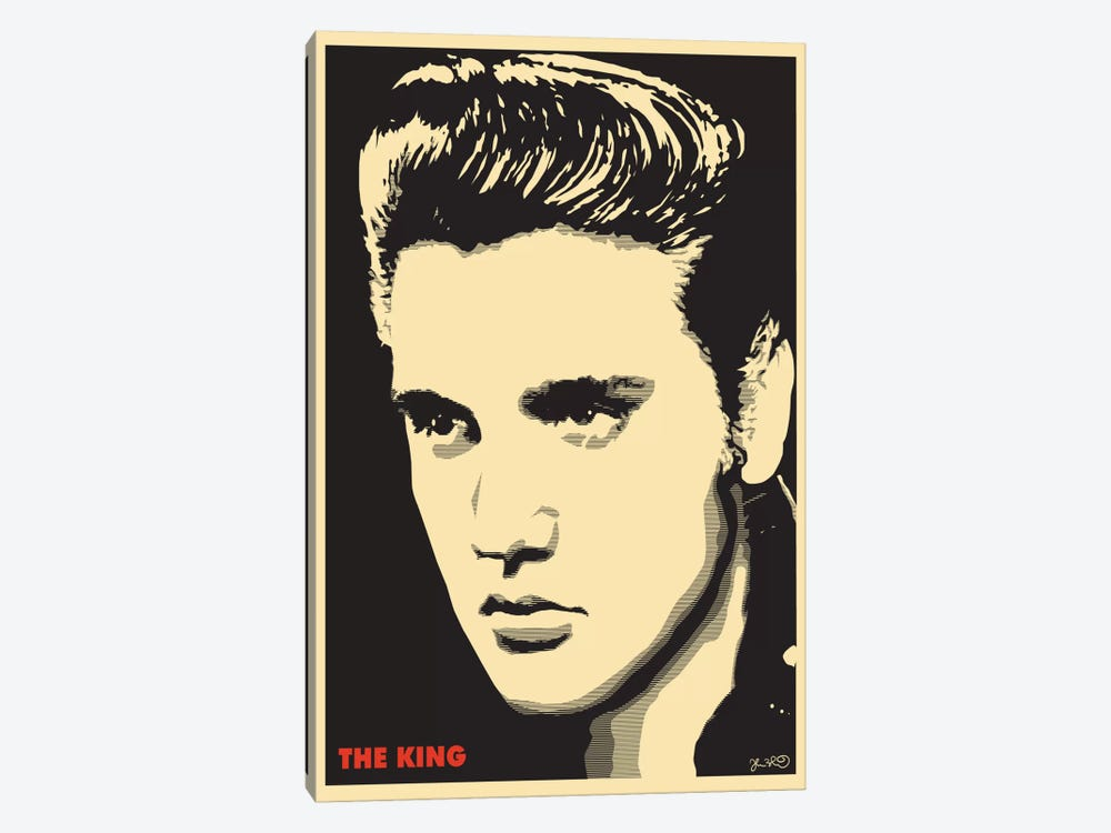 The King: Elvis Presley Canvas Art by Joshua Budich | iCanvas