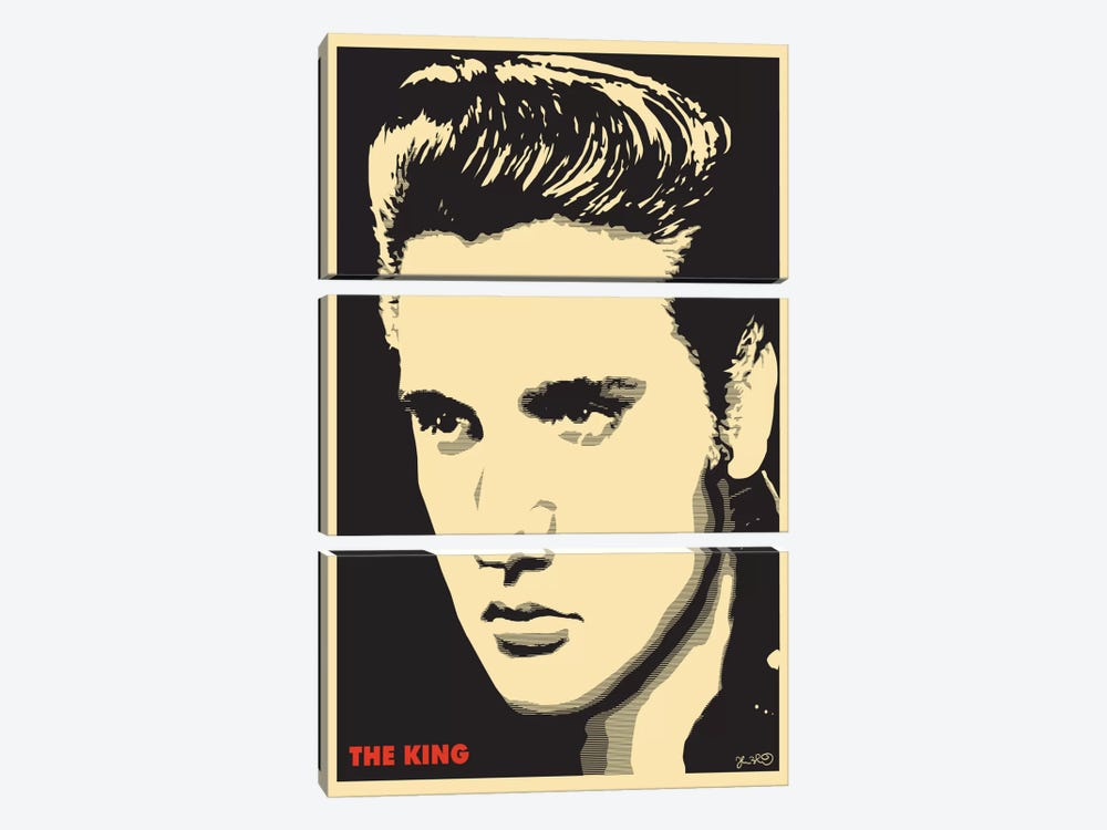 The King: Elvis Presley by Joshua Budich 3-piece Canvas Wall Art
