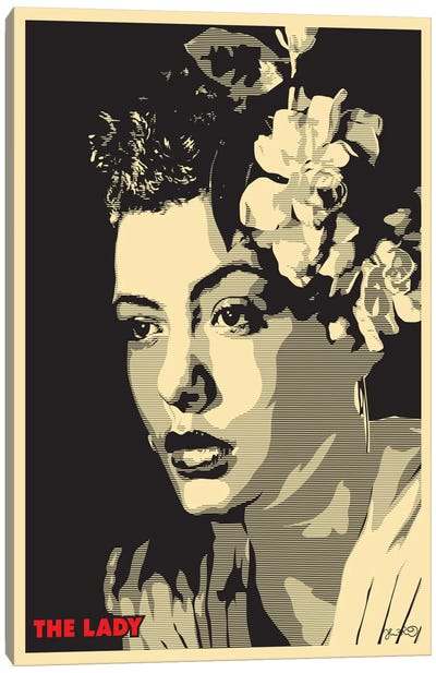 The Lady: Billie Holiday Canvas Print #JBD56