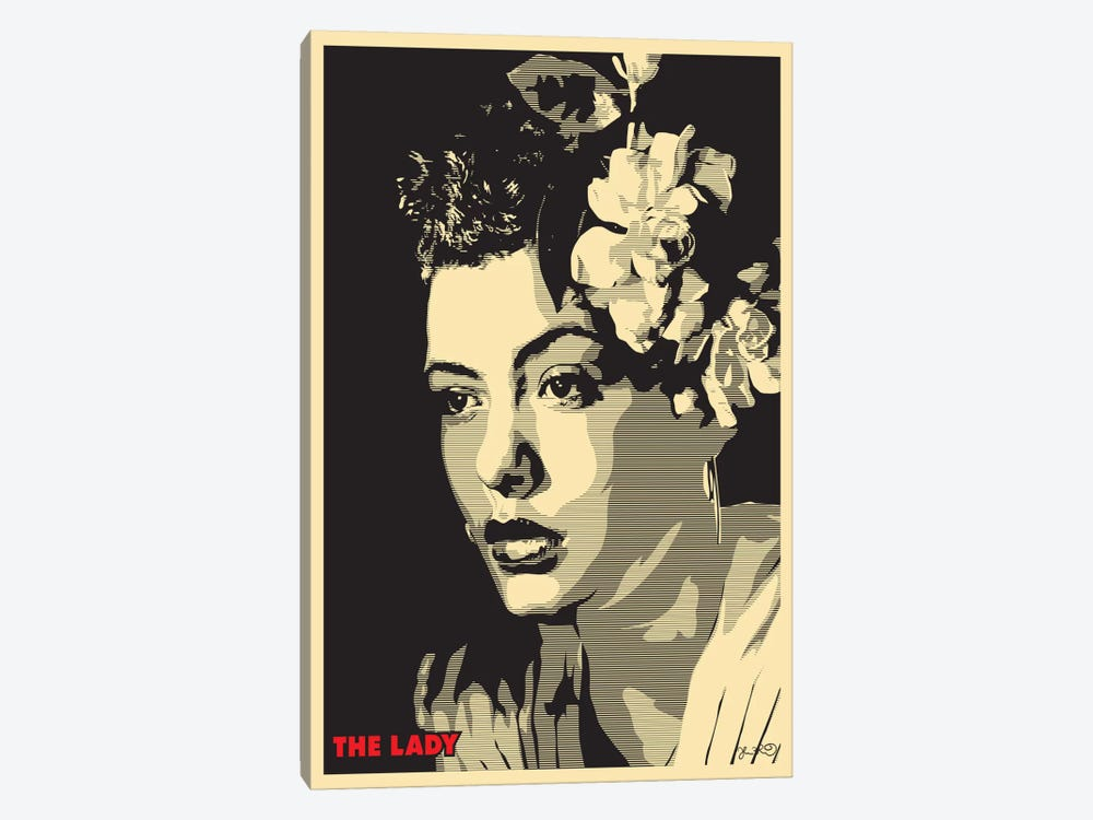 The Lady: Billie Holiday by Joshua Budich 1-piece Art Print