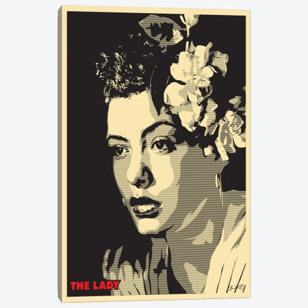 The Lady: Billie Holiday Canvas Print #JBD56} by Joshua Budich Canvas Print