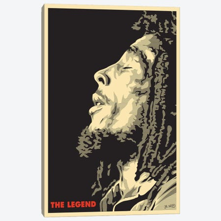 The Legend: Bob Marley Canvas Print #JBD57} by Joshua Budich Canvas Art Print