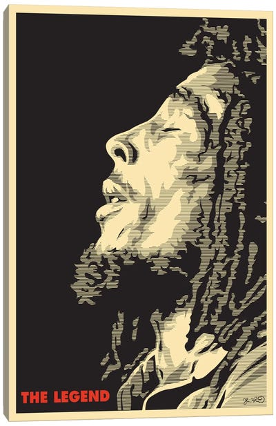 The Legend: Bob Marley Canvas Art Print