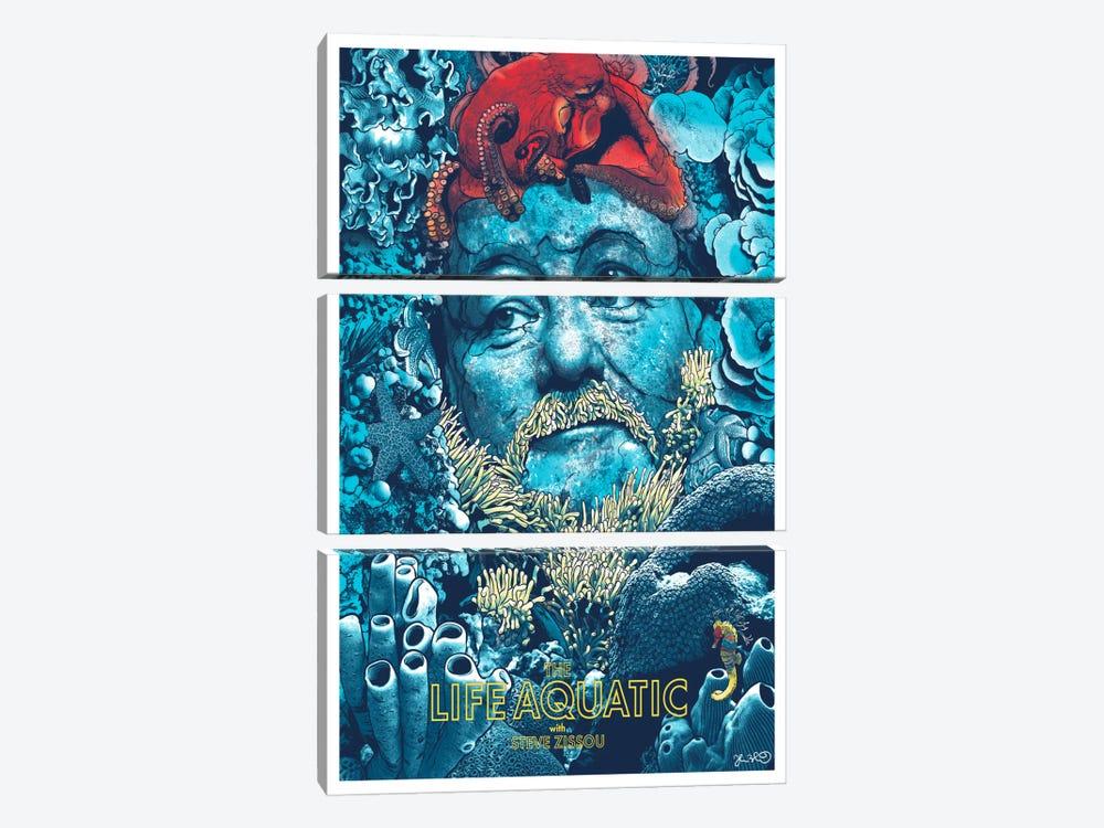 The Life Aquatic With Steve Zissou by Joshua Budich 3-piece Art Print