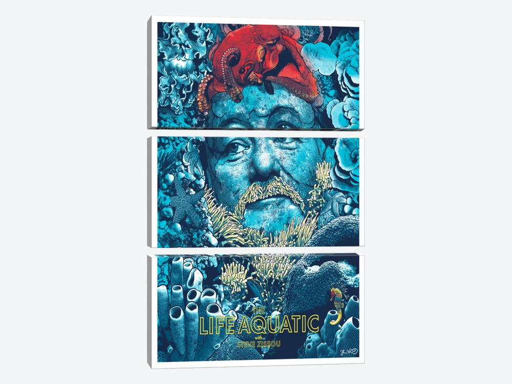 The Life Aquatic With Steve Zissou by Joshua Budich 3-piece Art Print