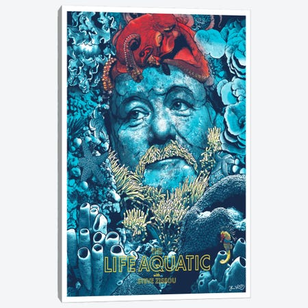 The Life Aquatic With Steve Zissou Canvas Print #JBD58} by Joshua Budich Canvas Wall Art