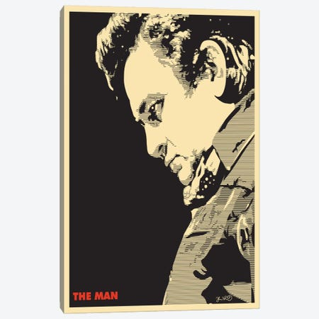 The Man: Johnny Cash Canvas Print #JBD59} by Joshua Budich Canvas Wall Art