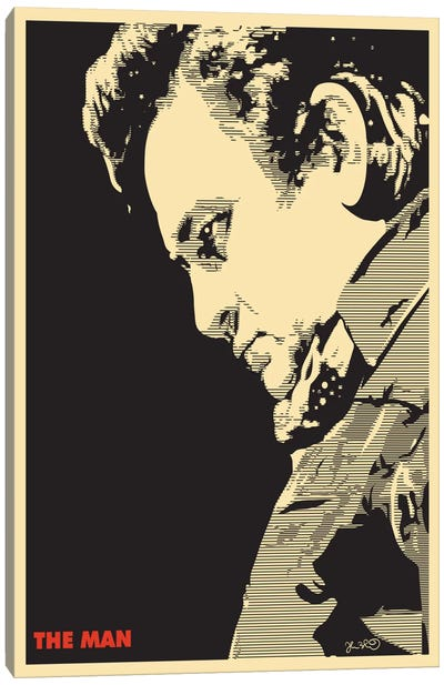 The Man: Johnny Cash Canvas Print #JBD59