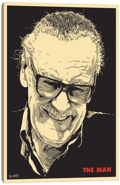 The Man: Stan Lee Canvas Print #JBD60