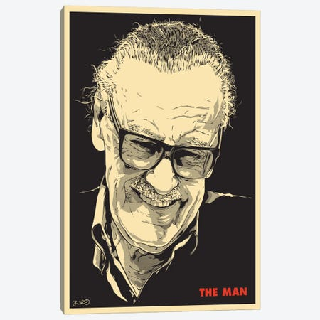 The Man: Stan Lee Canvas Print #JBD60} by Joshua Budich Art Print