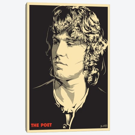 The Poet: Jim Morrison Canvas Print #JBD61} by Joshua Budich Canvas Print