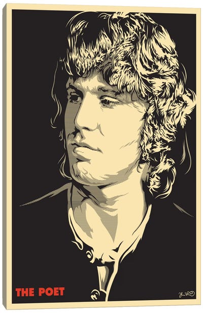The Poet: Jim Morrison Canvas Art Print