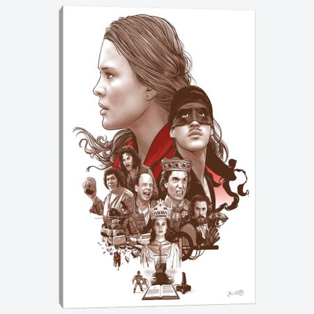 The Princess Bride Canvas Print #JBD62} by Joshua Budich Canvas Art Print