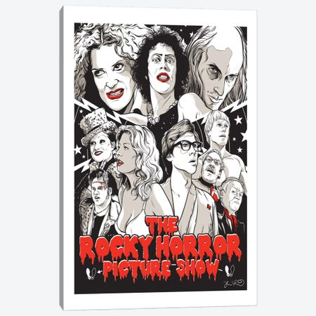 The Rocky Horror Picture Show Canvas Print #JBD66} by Joshua Budich Canvas Art