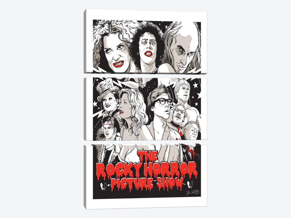 The Rocky Horror Picture Show by Joshua Budich 3-piece Canvas Wall Art