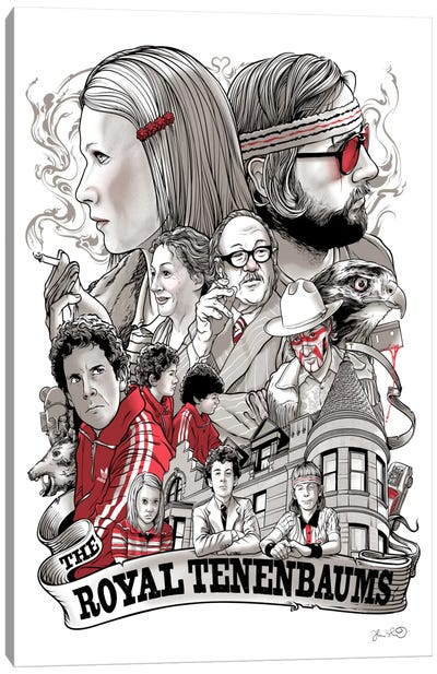 The Royal Tenenbaums Canvas Art Print