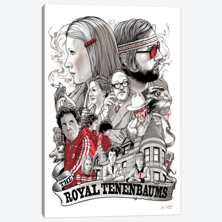 The Royal Tenenbaums Canvas Print #JBD67} by Joshua Budich Canvas Art
