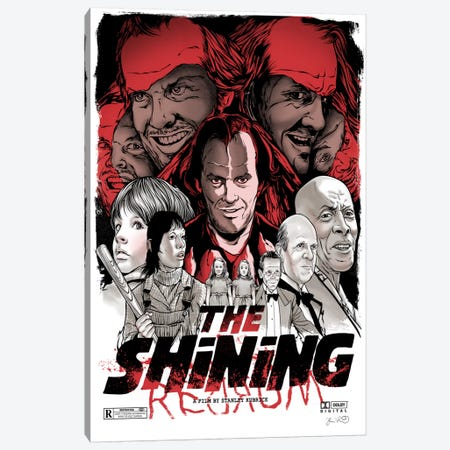 The Shining Canvas Print #JBD68} by Joshua Budich Canvas Art Print