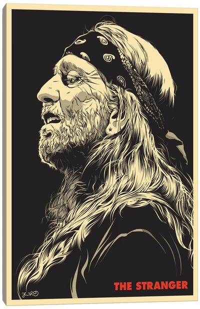 The Stranger: Willie Nelson Canvas Art Print