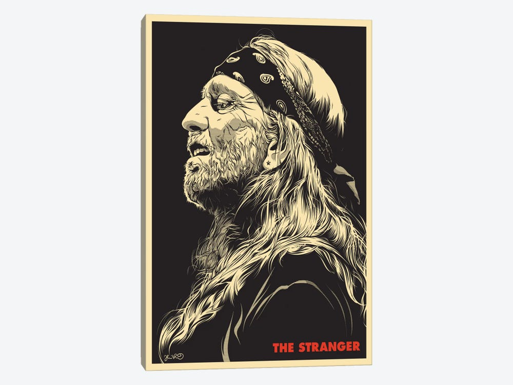 The Stranger: Willie Nelson 1-piece Canvas Art Print