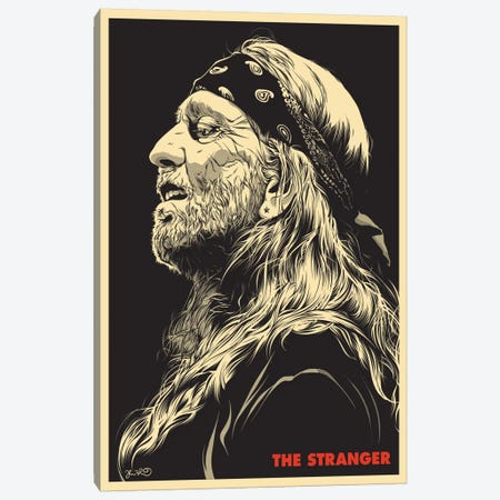 The Stranger: Willie Nelson Canvas Print #JBD69} by Joshua Budich Canvas Print