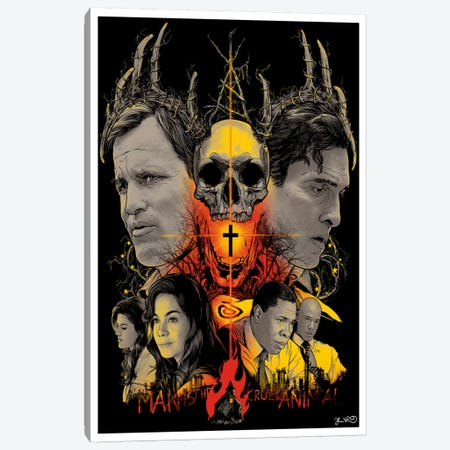 True Detective Canvas Print #JBD70} by Joshua Budich Canvas Artwork