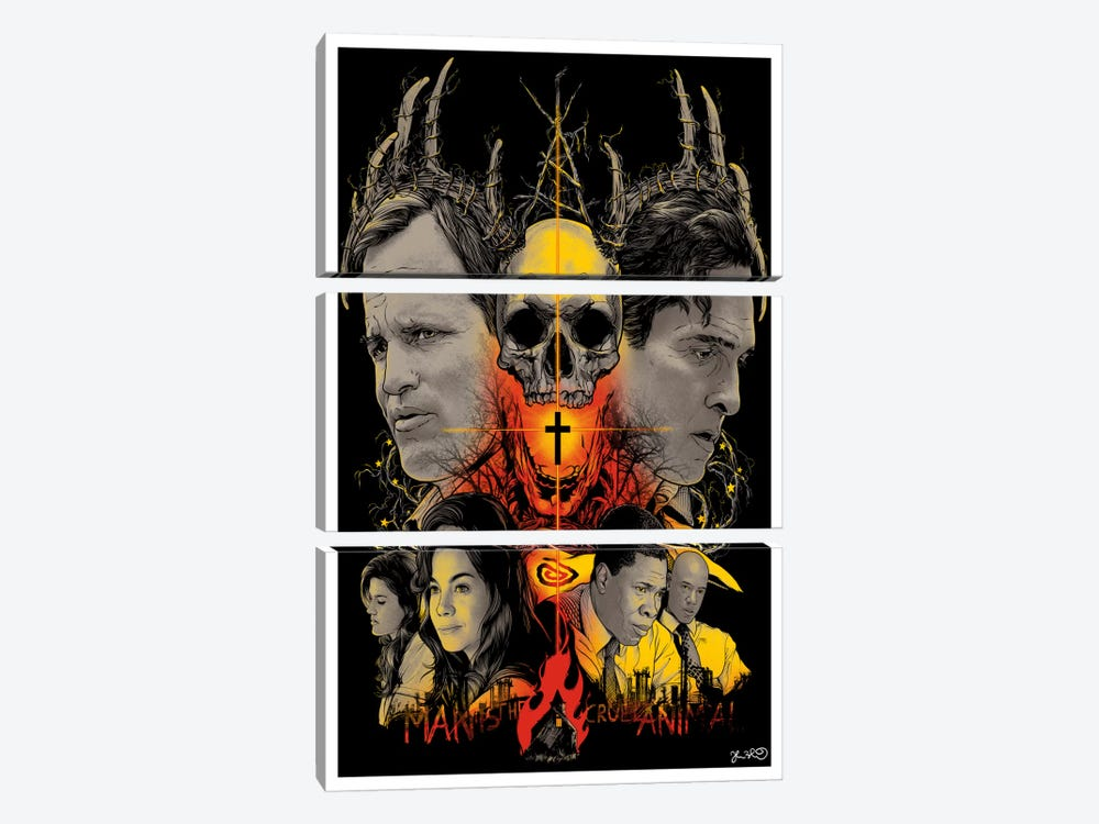 True Detective by Joshua Budich 3-piece Canvas Art Print
