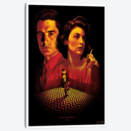 Twin Peaks Canvas Print #JBD72} by Joshua Budich Canvas Art